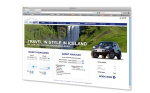 Vefhönnun fyrir Iceland Auto │Kría hönnunarstofa