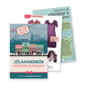 Hönnun og auglýsingagerð fyrir Jólahandbók Miðborgarinnar │Kría hönnunarstofa