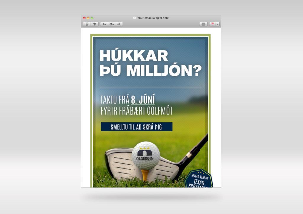 Rafræn auglýsing fyrir CP Reykjavík og Ölgerðina